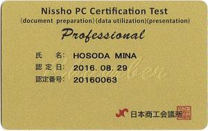 日商PC検定プロフェッショナル証